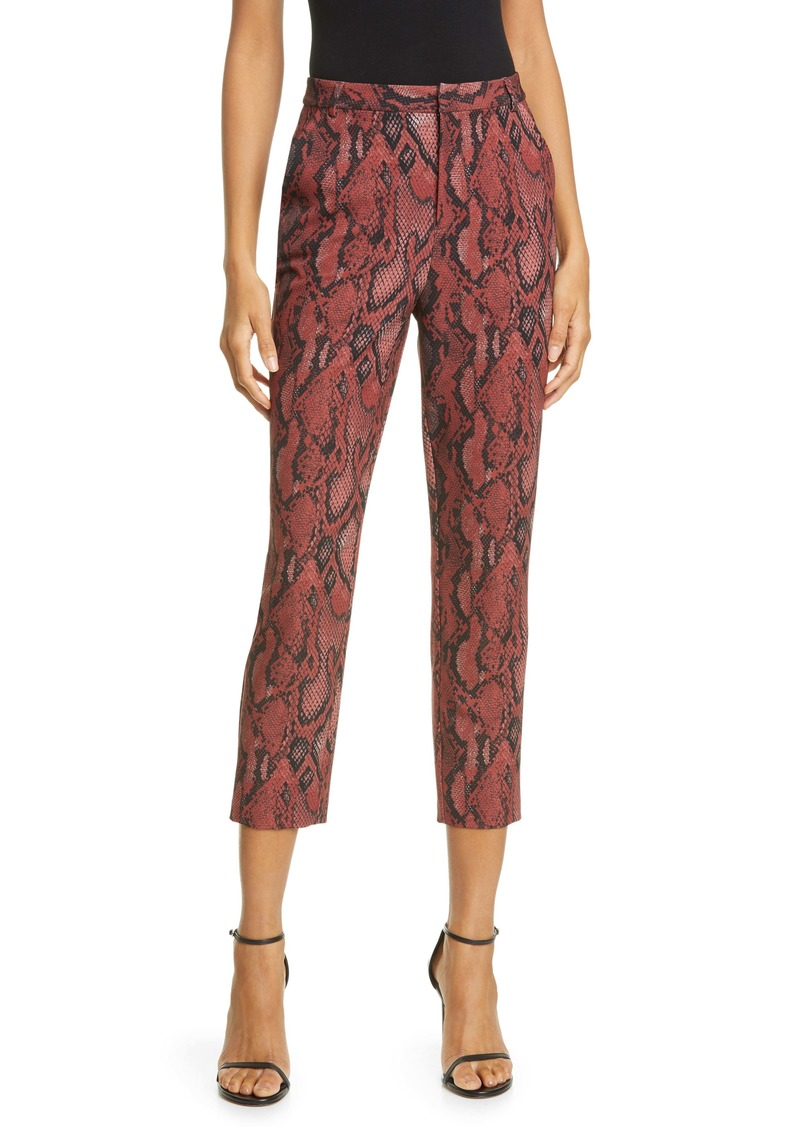 L'AGENCE Ludivine Snake Print Crop Trousers