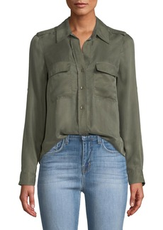 L'Agence Lunetta Button-Front Utility Shirt