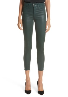 L'AGENCE Margot Coated Crop Skinny Jeans (Evergreen)
