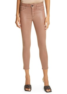 L'AGENCE Margot Coated High Waist Crop Jeans (Sparrow Contrast)