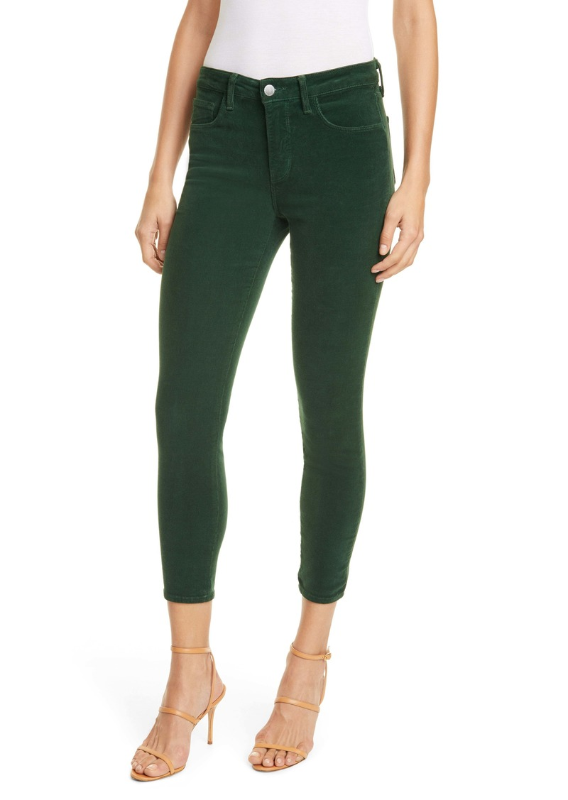 L'AGENCE Margot Corduroy Crop Skinny Pants