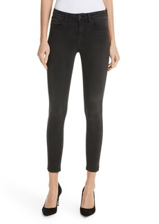 L'AGENCE Margot Crop Skinny Jeans (Dark Graphite)