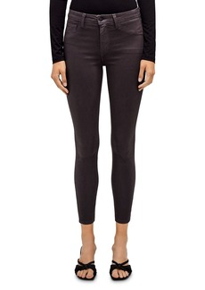 L'Agence Margot High-Rise Skinny Jeans in Coated