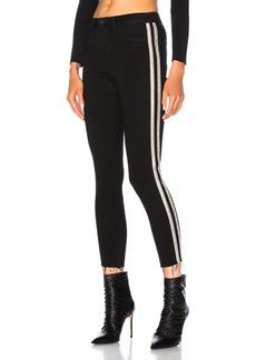 L'AGENCE Margot High Rise Skinny Sequin Stripe