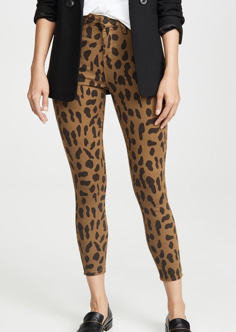 L'AGENCE Margot Spot Animal Print Jeans