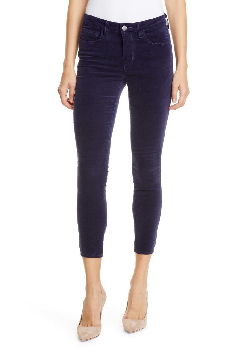 L'AGENCE Margot Velvet Crop Skinny Jeans