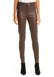 L'AGENCE Marguerite Coated High Waist Skinny Jeans
