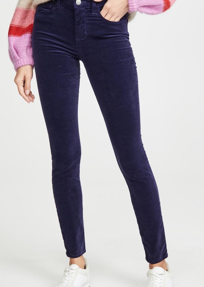 L'AGENCE Marguerite Velvet High Rise Skinny Jeans