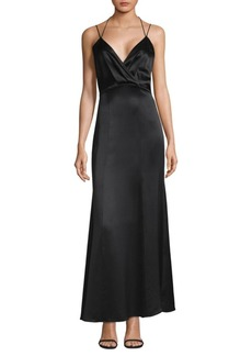 L'Agence Octavia Strappy Silk Gown