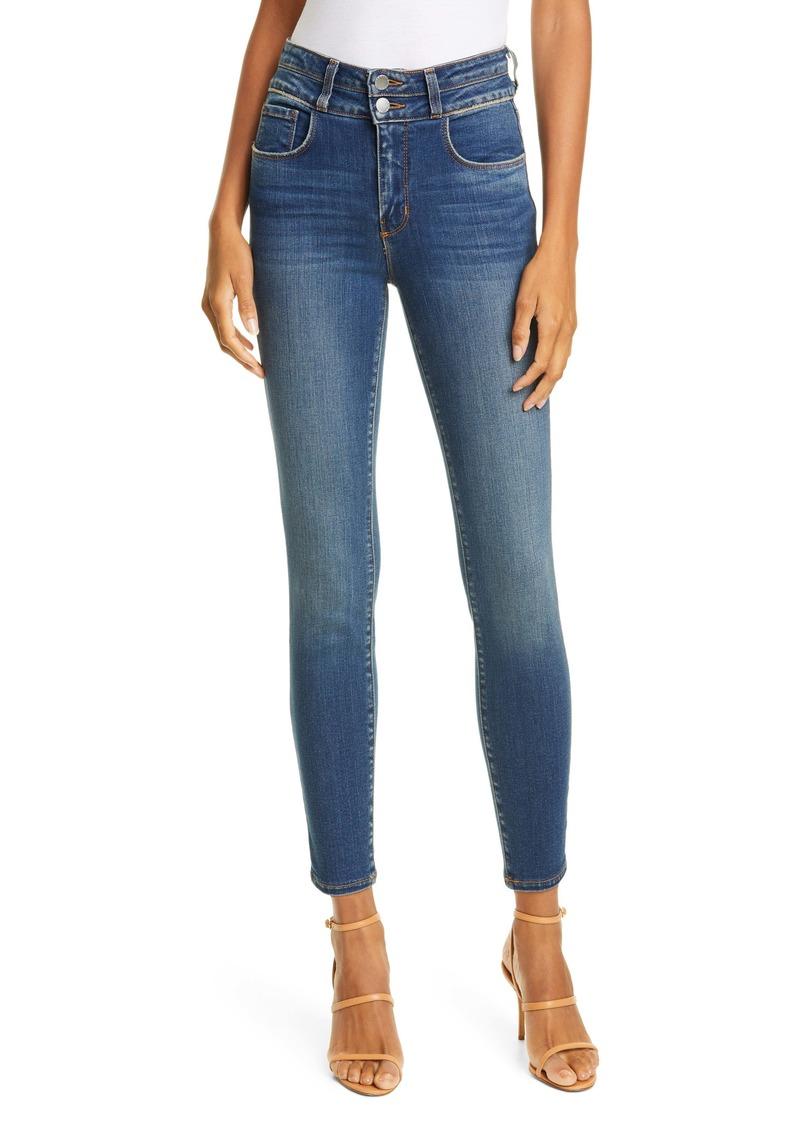 L'AGENCE Peyton High Waist Crop Skinny Jeans (Premier)