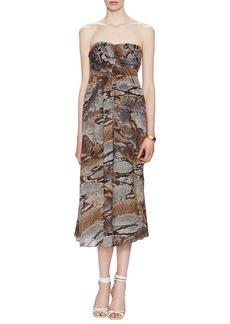 L'Agence L''agence Python Strapless Dress