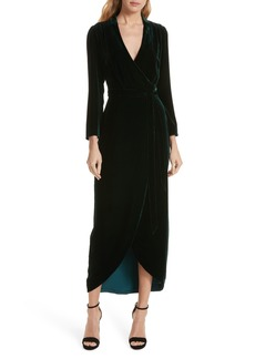 L'AGENCE Reliah Velvet Wrap Dress