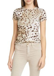 L'AGENCE Ressi Cheetah Print T-Shirt