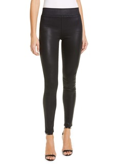 L'AGENCE Rochelle Coated High Waist Pull-On Skinny Jeans