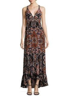 L'Agence Rosina Maxi Silk Dress