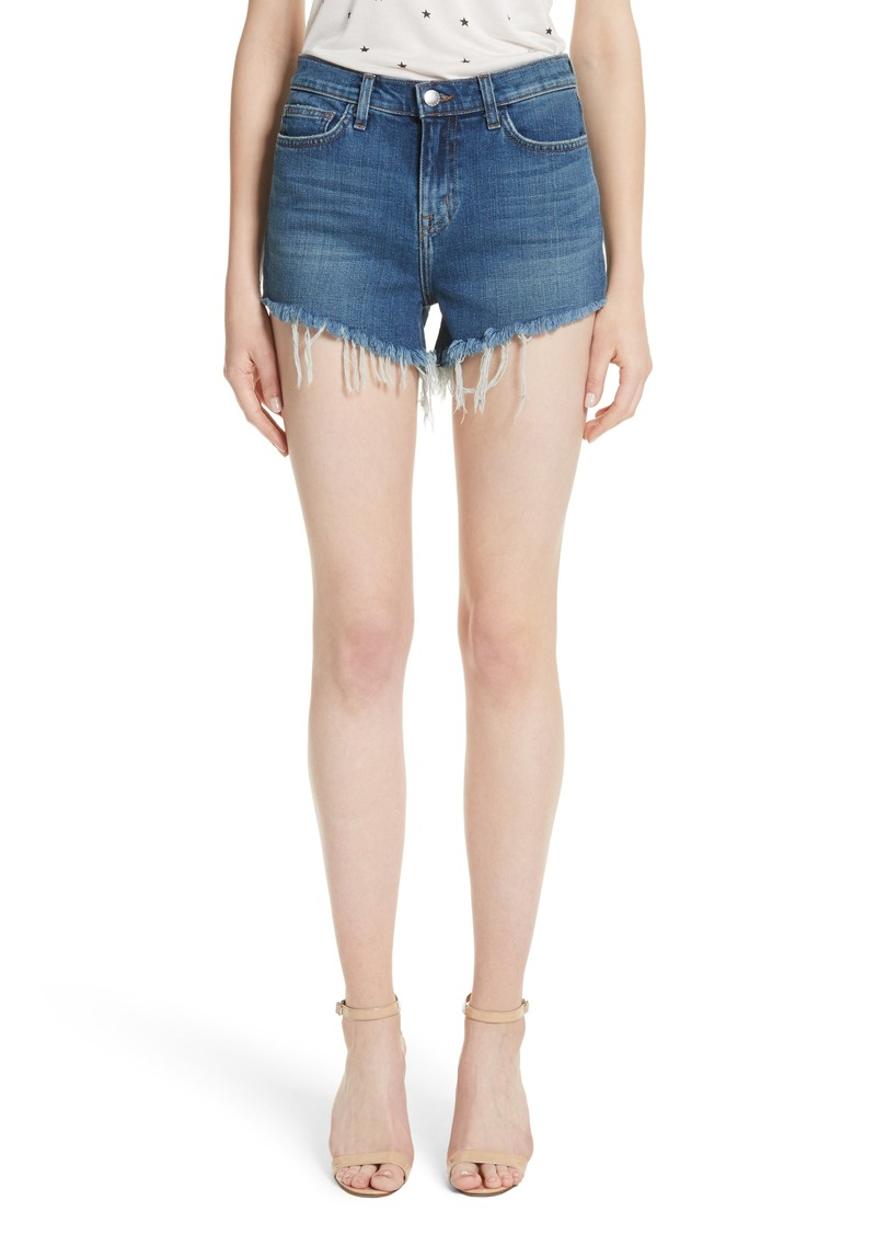 L'AGENCE Ryland High Waist Denim Shorts (Authentique)