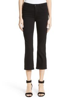 L'AGENCE Serena High Waist Crop Flare Jeans