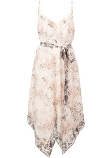 L'agence snake print camisole dress - Pink & Purple