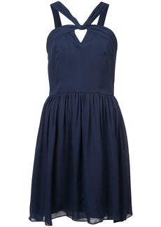 L'agence strappy neck flared dress - Blue