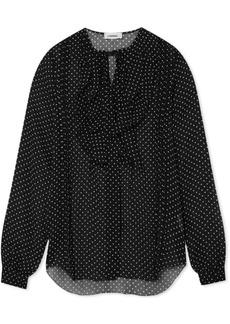 L'Agence Tabitha ruffled printed crinkled-chiffon blouse