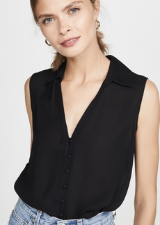 L'AGENCE Tanya Button Loop Blouse