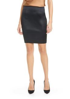 L'AGENCE Tenney Stretch Satin Pencil Skirt