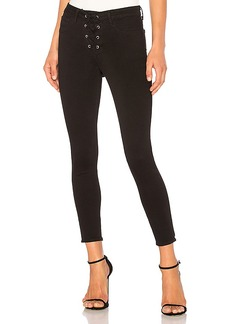 L'AGENCE The Cherie Lace-up Skinny