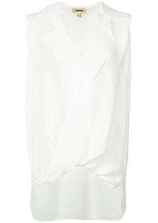 L'agence v-neck sleeveless blouse - White