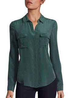 L'Agence Valerie Safari Hunter Silk Blouse
