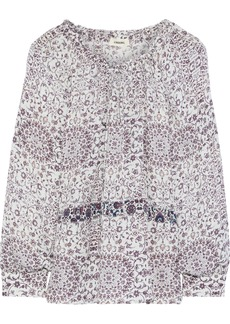 L'agence Woman Crawford Floral-print Silk Crepe De Chine Blouse Ivory