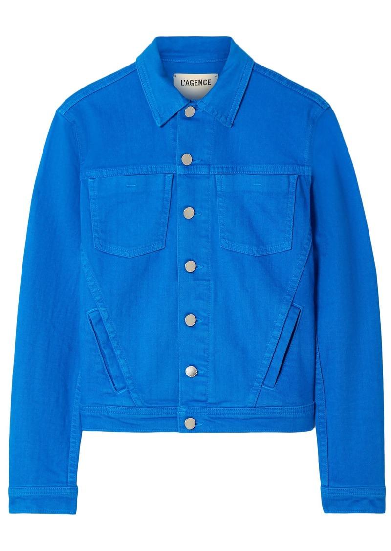 L'agence Woman Denim Jacket Cobalt Blue