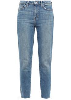 L'agence Woman Faded High-rise Slim-leg Jeans Mid Denim