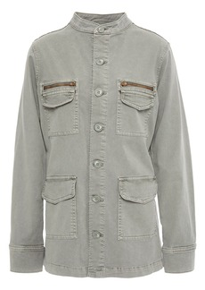 L'agence Woman Elizabeth Stretch-cotton Twill Jacket Grey Green