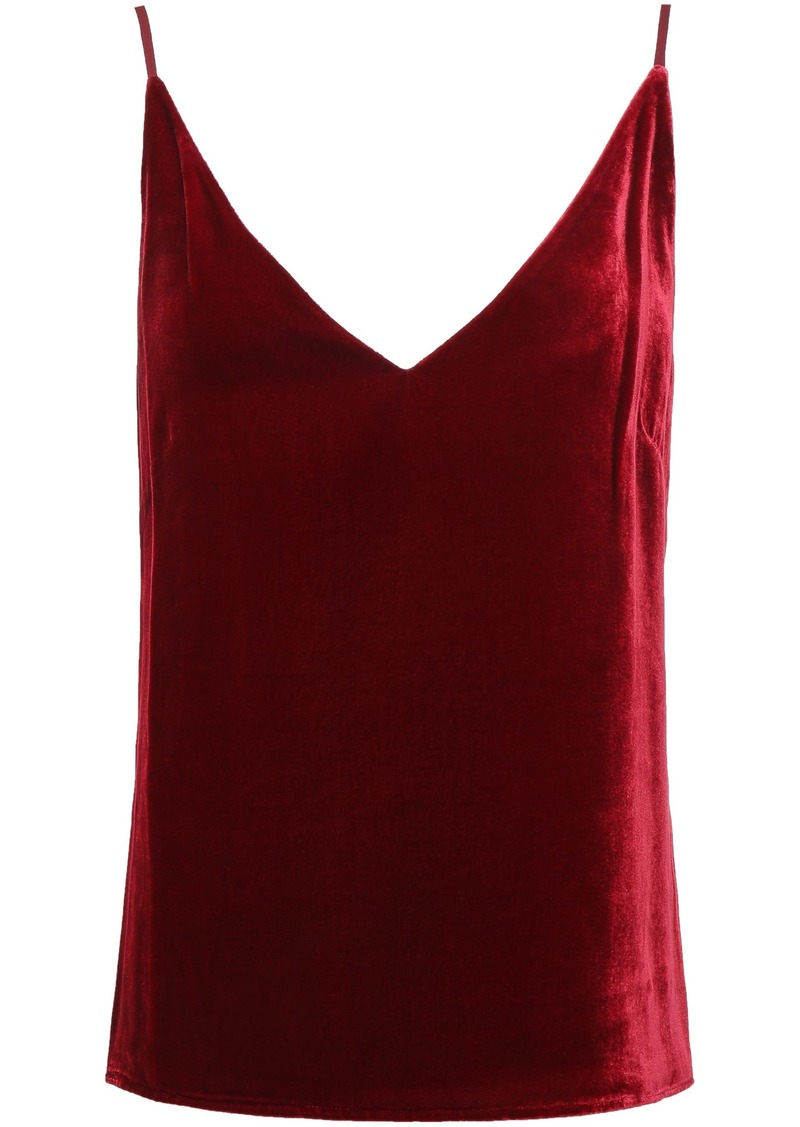 L'agence Woman Gabriella Velvet Camisole Burgundy