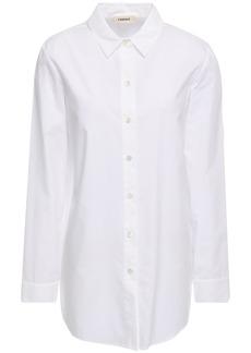 L'agence Woman Layla Split-back Cotton-poplin Shirt White