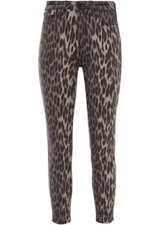 L'agence Woman Margot Cropped Leopard-print High-rise Skinny Jeans Animal Print