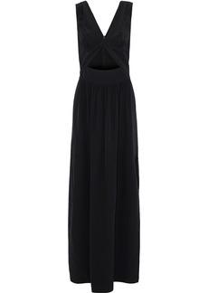 L'agence Woman Silvano Twist-front Cutout Silk Crepe De Chine Gown Black