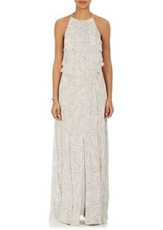 L'Agence Women's Adriana Silk Maxi Dress
