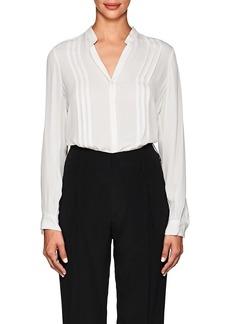 L'Agence Women's Amalea Pintucked Silk Blouse