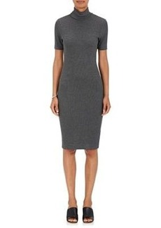L'Agence Women's Ami Rib-Knit Mock-Turtleneck Dress