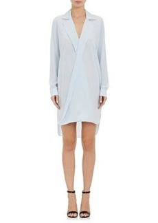 L'Agence Women's Avian Silk Crepe Shirtdress