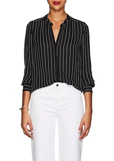 L'Agence Women's Bardot Striped Silk Blouse