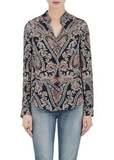 L'Agence Women's Bianca Paisley Silk Blouse