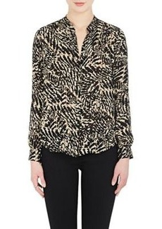 L'Agence Women's Bianca Abstract-Print Silk Blouse