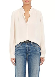 L'Agence Women's Bianca Washed Silk Blouse
