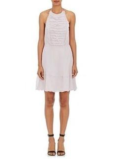 L'Agence Women's Brie Cotton-Silk Plissé Halter Dress