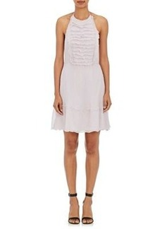 L'Agence Women's Brie Cotton-Silk Plissé Halter Dress