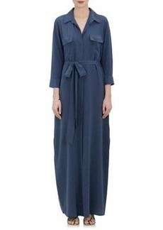 L'Agence Women's Cameron Silk Belted Shirtdress