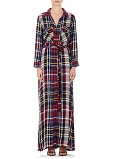 L'Agence Women's Cassie Flannel Belted Shirtdress