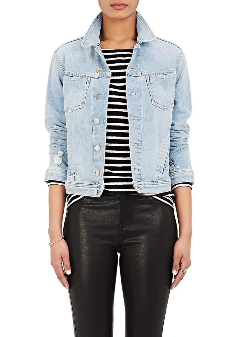 On Sale today! L Agence L Agence Women s Celine Slim Femme Denim Jacket 51780551090a9